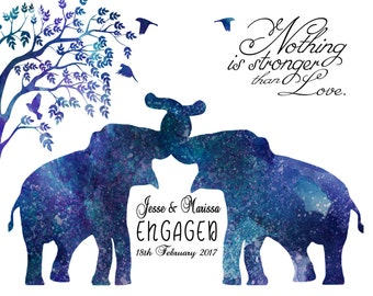 Personalized Engagement Gift for a couple Anniversary Gift