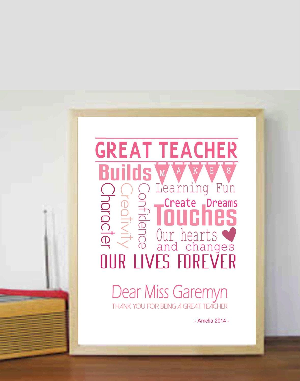 Lehrer Geschenk Lehrer Geschenke Ideen Ende Jahr Lehrer | Etsy