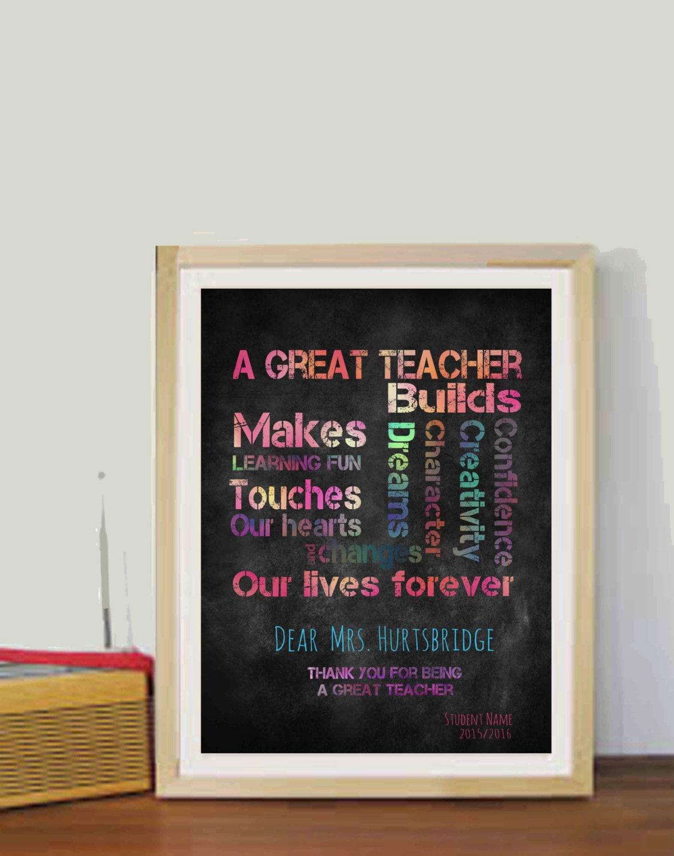 Tafel Lehrer Geschenke Jahr Ende Geschenke Lehrer Zitate | Etsy