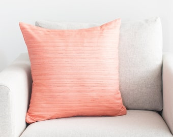Peach Throw Pillow Etsy
