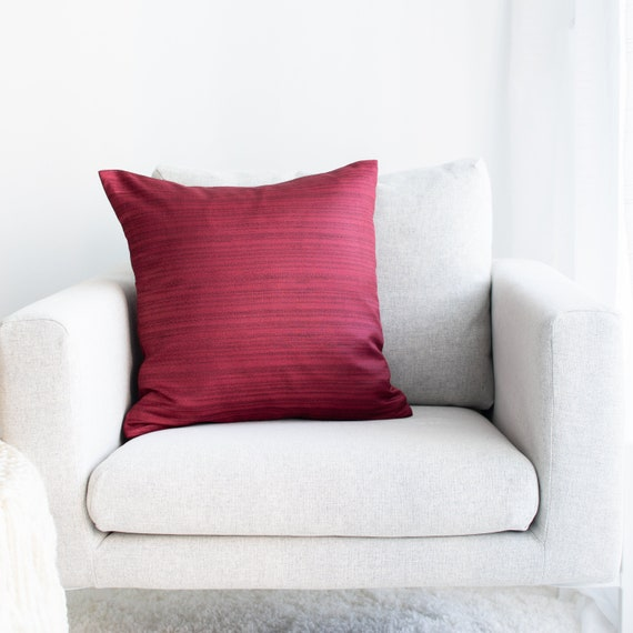 Peachy Burgundy Throw Pillow Cover Minimalist Contemporary Pillows Perfect For Couch Sectional Beds Creativecarmelina Interior Chair Design Creativecarmelinacom