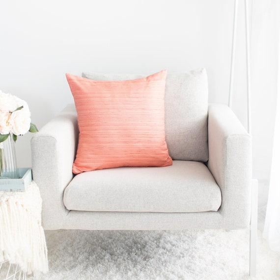 Peach Throw Pillow Cover Minimalist Contemporary Pillows Etsy