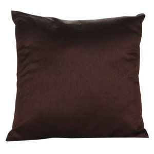 Brown pillow cover Chocolate brown