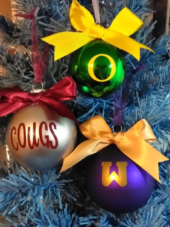 image 0 - Christmas Ornaments College Football Oregon Ducks Etsy