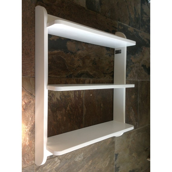Wall Mounted Shelf Unit Painted Kitchen Shelves Or Cd Dvd And Etsy
