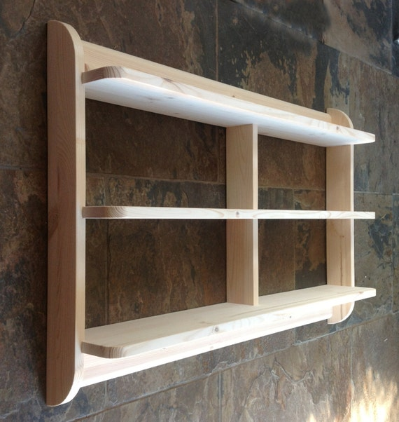Wide Wall Mounted Open Back Shelf Unit Kitchen Shelves Or Dvd Etsy
