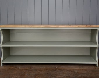 Hall shoe bench and shoe rack with storage shelves in painted and wood finish