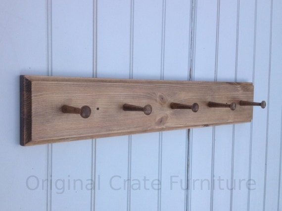 Coat Rack Peg Board Coat Hooks Wall Mount Wood For Entry Hall Etsy Inspiration Wooden Pegs For Coat Rack
