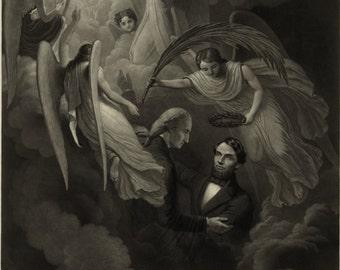 Abraham Lincoln - Vintage Art Print - Victorian Antique 1800's Americana - Curiosities - Patriotic Paper Ephemera