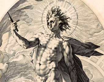 Apollo - Greek and Roman Gods - Mythology - Sun God - Giclee Art Print - Old Maps and Prints - Fredrik Goltzius