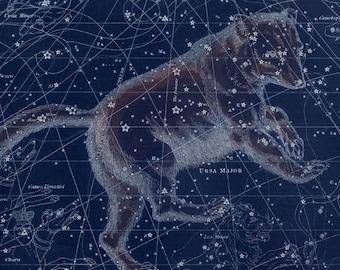 Vintage Ursa Major Constellation Celestial Map - Astronomy Gift - Astrology Art Prints - Big Dipper - Great Bear - Restoration Style Decor