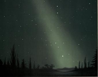 Zodiacal Light - False Dawn - Astronomical Science Art Print - Antique Scientific Illustration - Solar Phenomenon Old Maps and Prints