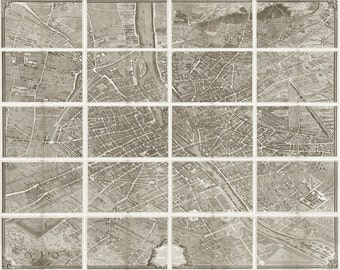 Turgot's Plan De Paris - Old Map of Paris - Vintage Art Prints - Old Maps and Prints - Antique Paris Decor - Paris Print - Parisian Map Art