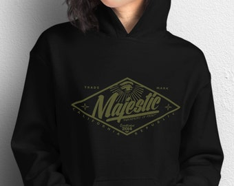 Majestic Diamond Logo Unisex Black Hoodie