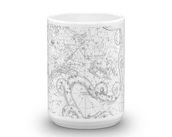 Constellations II 15oz Coffee & Tea Mug - Plate II - Draco - Ursa Minor - Cepheus - Tarandus - Cassiopeia