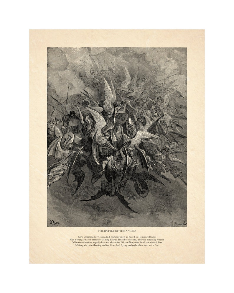 Gustave Dore's Battle of the Angels  Milton's image 0