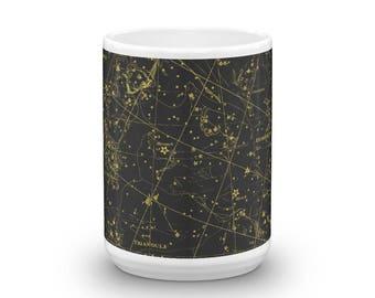 Constellations III 15oz Coffee & Tea Mug - Plate III - Perseus - Andromeda - Triangula - Sky Map Star Chart Ceramic Cup