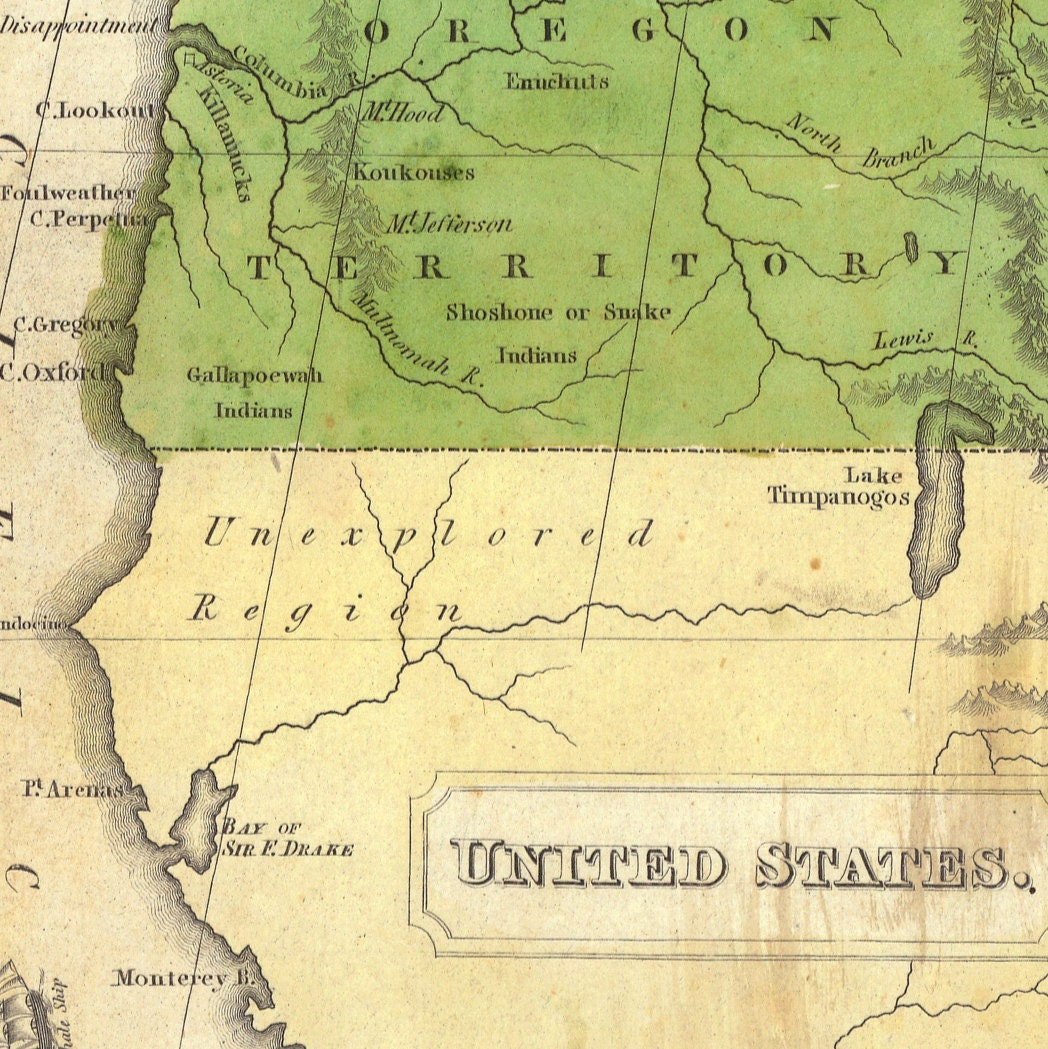 1830 Us Map.1830 Map Of United States And Territories Old Maps And Prints