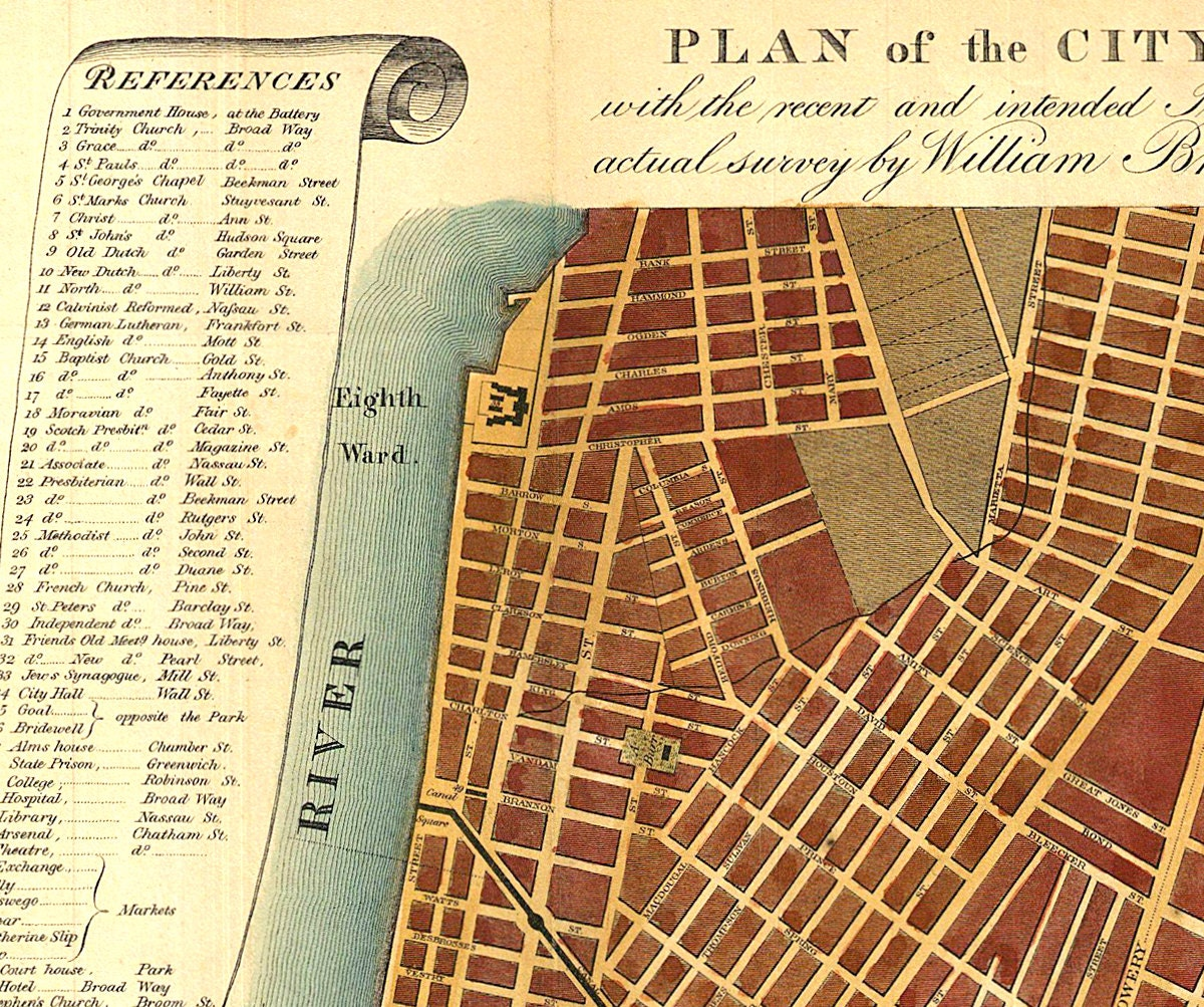 Plan Of The City Of New York Old Maps And Prints New York - Antique maps nyc