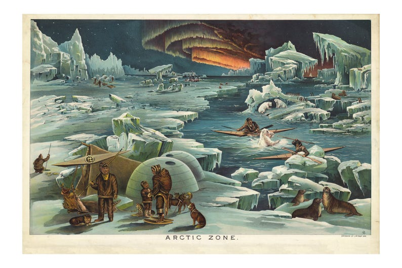 Yaggys Arctic Zone Geographical Print  Gift for Geologist  image 0