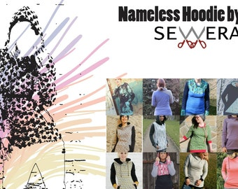 Nameless Hoodie Schnittmuster und Anleitung by Sewera