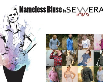 Nameless Bluse Schnittmuster und Anleitung by Sewera