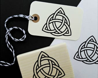 Triquetra Celtic Symbol Rubber Stamp, Decovative Spiritual Stamp  -1741310118-