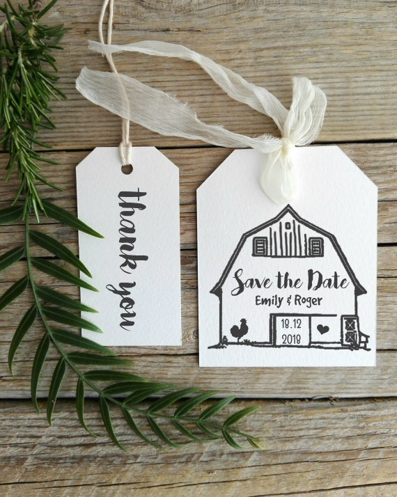 Save The Date Barn Custom Wedding Stamp Personalize