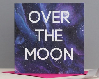 Over the Moon Congratulations Card