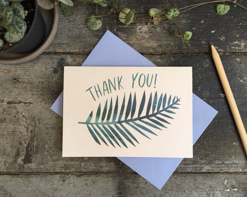 Palm Print Thank you card image 0