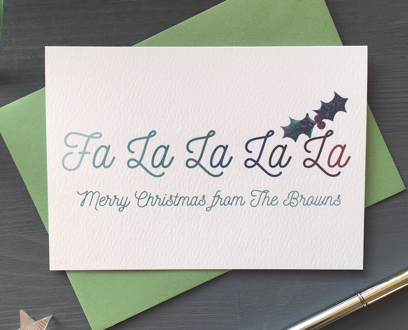 pack of 10 personalised Modern Christmas Cards  Set of image 0