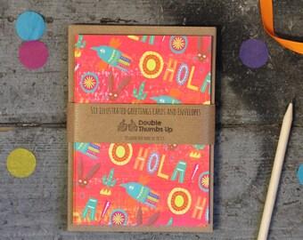 Children's stationery set, Fiesta notecard set for kids