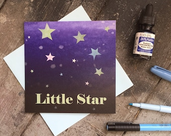 Little Star New Baby Card