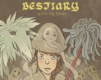 The Human Bestiary EBOOK | Digital comic, artbook, creepy cute, picture book, fantasy art, fantasy creatures, comic book, anxiety, paranoia.