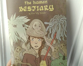 The Human Bestiary | Comic, artbook, zine, creepy cute, monster, fantasy art, fantasy creatures, comic book, anxiety awareness, paranoia.