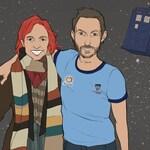 Fandom portrait for couples, family or 1 person! | Geek wedding, Disney Christmas, geek gift, geek Christmas, geek art, Star Trek, LOTR art