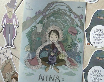 Nina's geek-self comic book! | Artbook, Illustration book, picture book | Physycal copy, ENG version available.