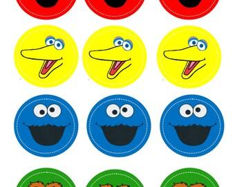 Sesame Street Cupcake Toppers- PRINTABLE