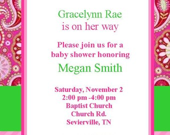 Paisley Baby Shower Invitation