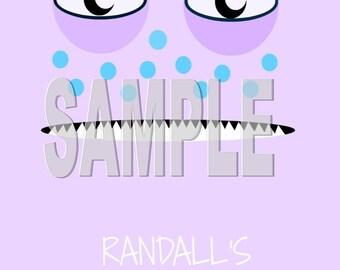 Monsters Inc- Birthday Party Food Sign- Randall PRINTABLE
