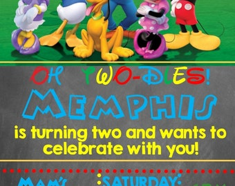 Mickey Mouse Clubhouse Birthday Invitation- Printable
