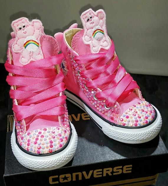 ec4935f08b154 Girls Custom Converse- Kids Converse- Bling Converse- Care Bear Converse-  Minnie Mouse- Doc Mcstuffins- Paw Patrol- Shopkins- Sneakers