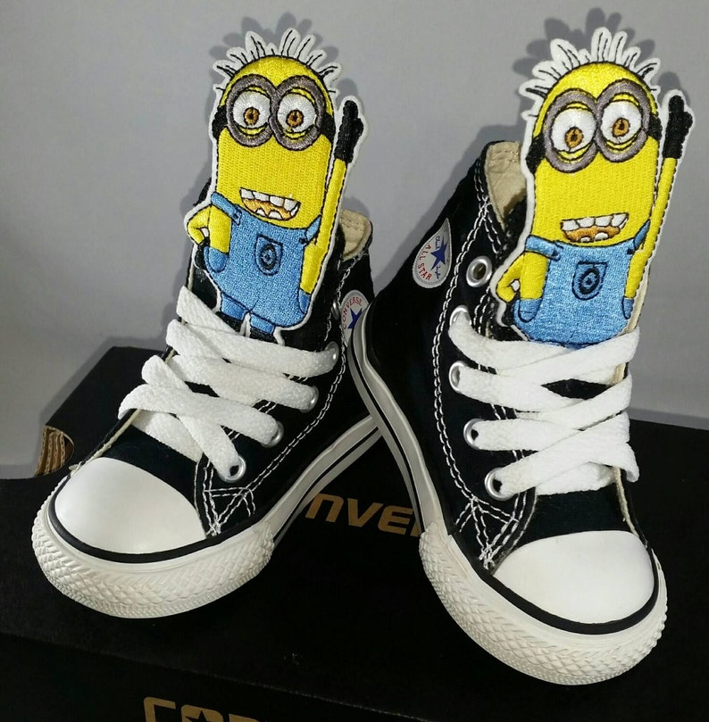 9afe8d5bd963 Boys Custom Converse Sneakers Minions Despicable Me Converse