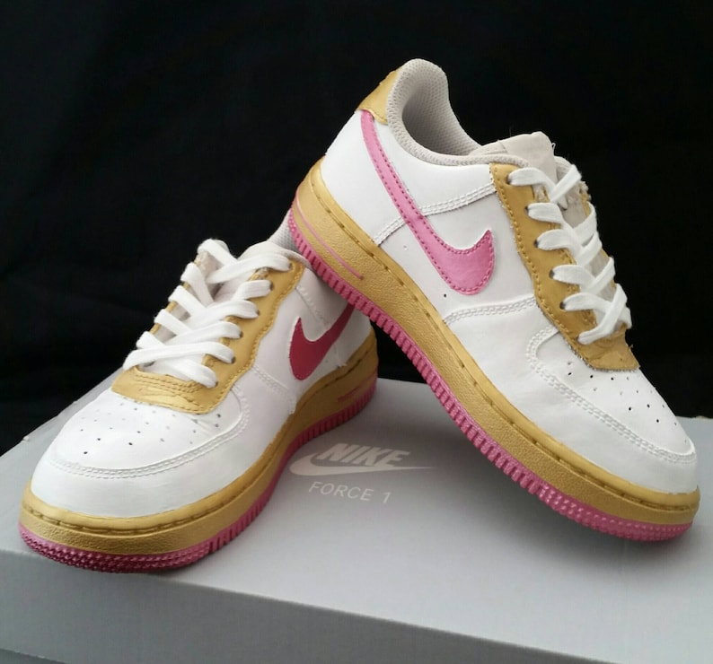 52c46222d110 Custom Painted Air Force Ones Hand Painted Tennis Shoes