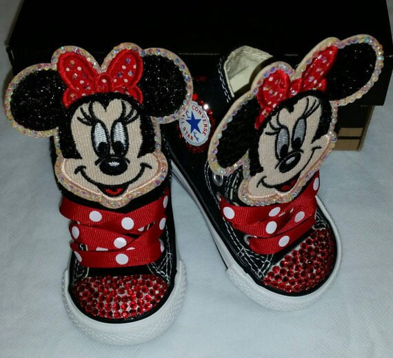 1ea88fdc133b4 Girls Custom Converse- Kids Converse- Bling Converse- Minnie Mouse  Converse- Paw Patrol- Emoji- Doc Mcstuffins- Birthday Sneakers- Shoes