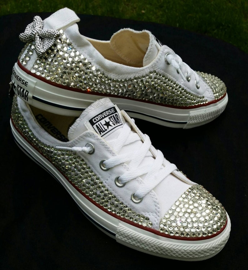 Voller Bling Hochzeit Converse Braut Sneakers Custom Etsy