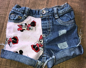 Girls Shorts- Boys Shorts- Cartoon Shorties- Minnie Mouse Kids Shorts- Distressed Shorts- Baby Girl Shorts- Baby Boy Shorts- Kids Fashion