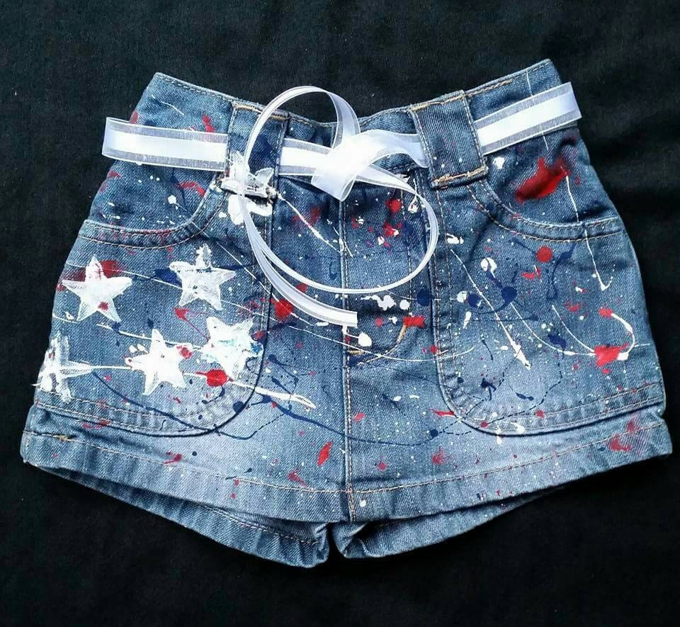 3acb57136e80 4th of July Girls Boys Patriotic Shorts Jeans Skirts