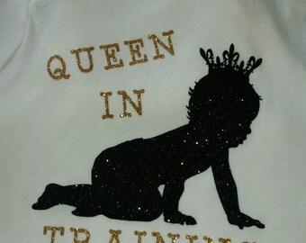 Custom Infant/Baby Onesie- King In Training- Queen In Training- Custom Baby Onesies- Custom Kids Tshirts - Unique Onesies- Adorable Onesie