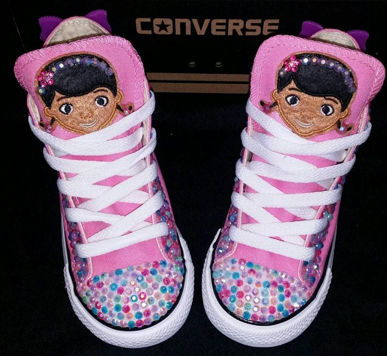 e604ab4a1de5 Girls Custom Converse Kids Converse Bling Converse Doc